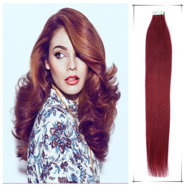 Clearance Hair Extensions Straight Pu Tape Hair Weaves 20inch50cm