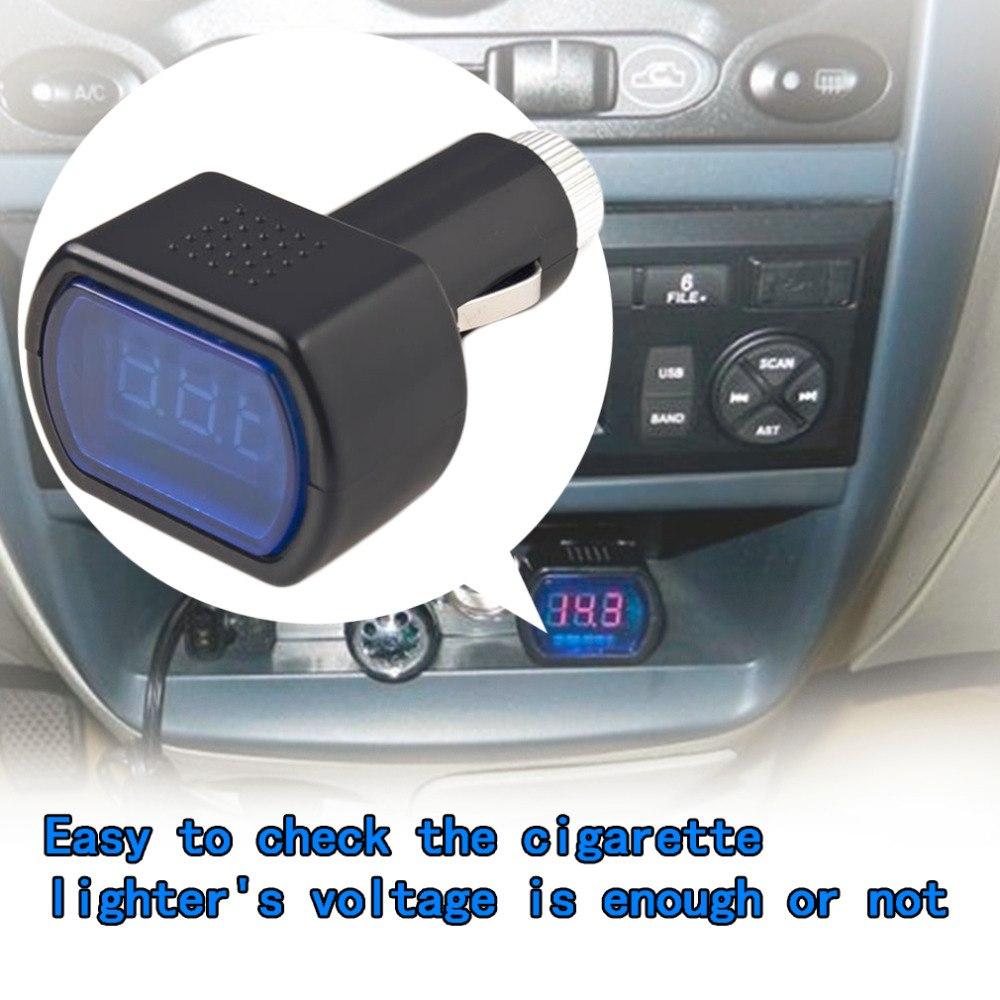 LED Digital Display Cigarette Lighter Electric Voltage Meter For Auto Car Vehicle Battery Monitor Voltmeter Black