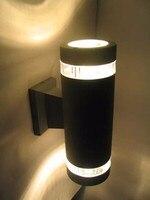 10 יחידות חיצוני led קיר אור עמיד למים אלומיניום מנורת למעלה ולמטה קיר led אורות arandela 2 שנים אחריות-במנורת קיר פנימית LED מתוך פנסים ותאורה באתר