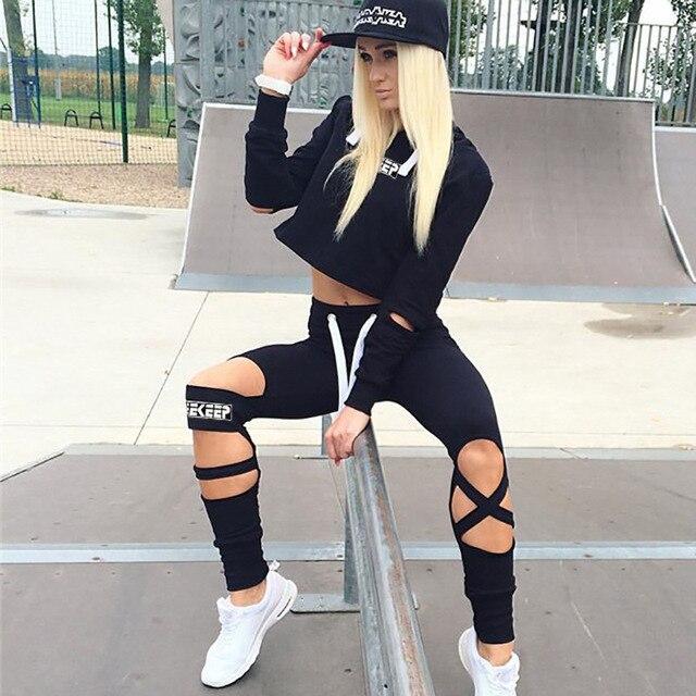 Высокое качество Для женщин трек Костюмы Спорт Костюмы Для женщин тренажерный зал Фитнес спортивный костюм Костюмы комплект из 2 частей Yoga одежда 2016 костюм для Для женщин