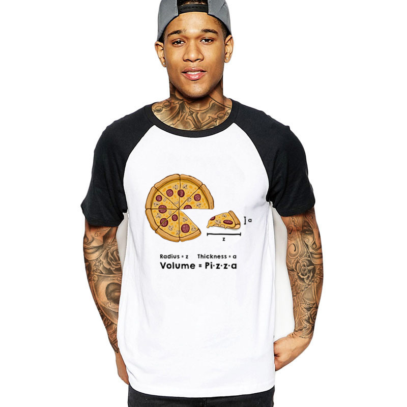 2019 streetwear Pizza formula mushrooms bacon pepperoni cheese maths geek sauce Men food funny t shirts male t-shirt tops tshirt image