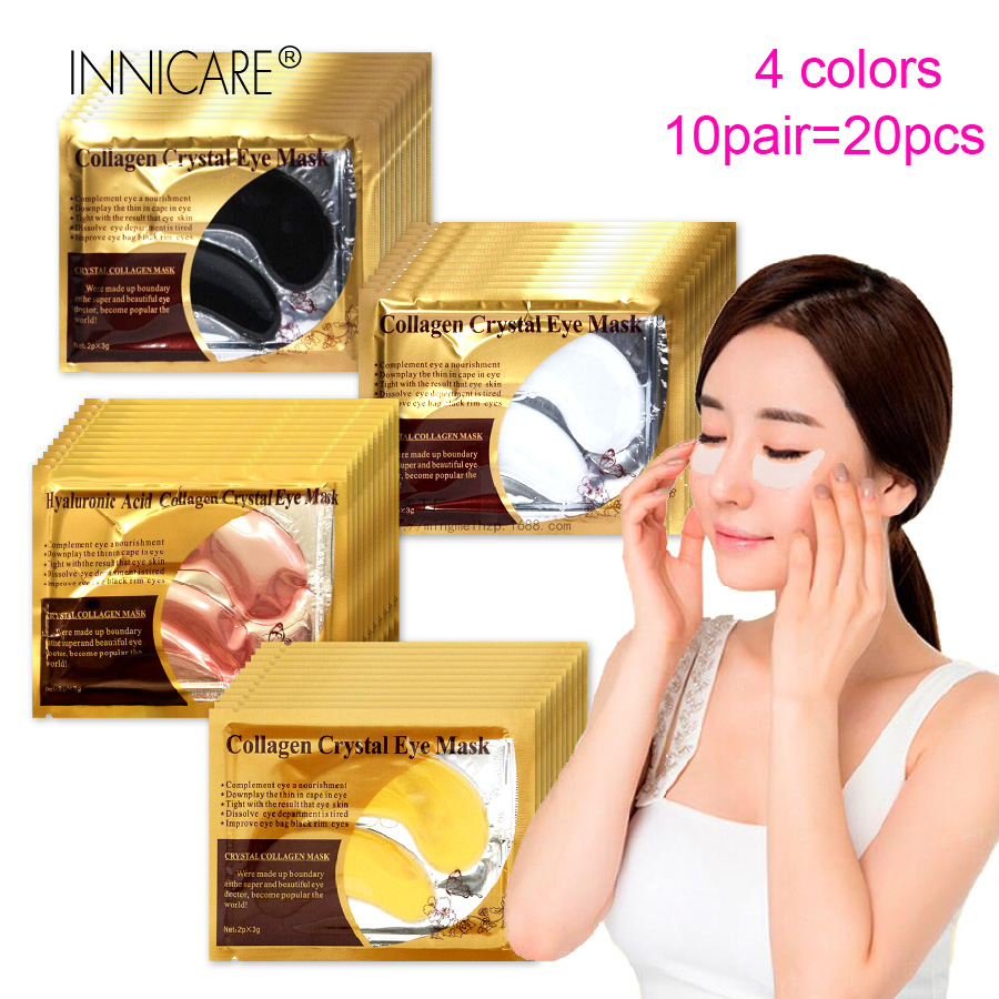 20Pcs=10Pairs Beauty 24K Gold Collagen Eye Mask Patches For Dark Circle Anti-Aging Acne Korean Cosmetics Skin Care