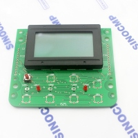 SK200-6 SK-6 Excavator LCD Screen For Kobelco Monitor Gauge Panel  3 month warranty