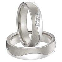 Альянсов Анель серебристый белый цвет золотистый titanium стали пары обещают кольца комплекты для Годовщина свадьбы
