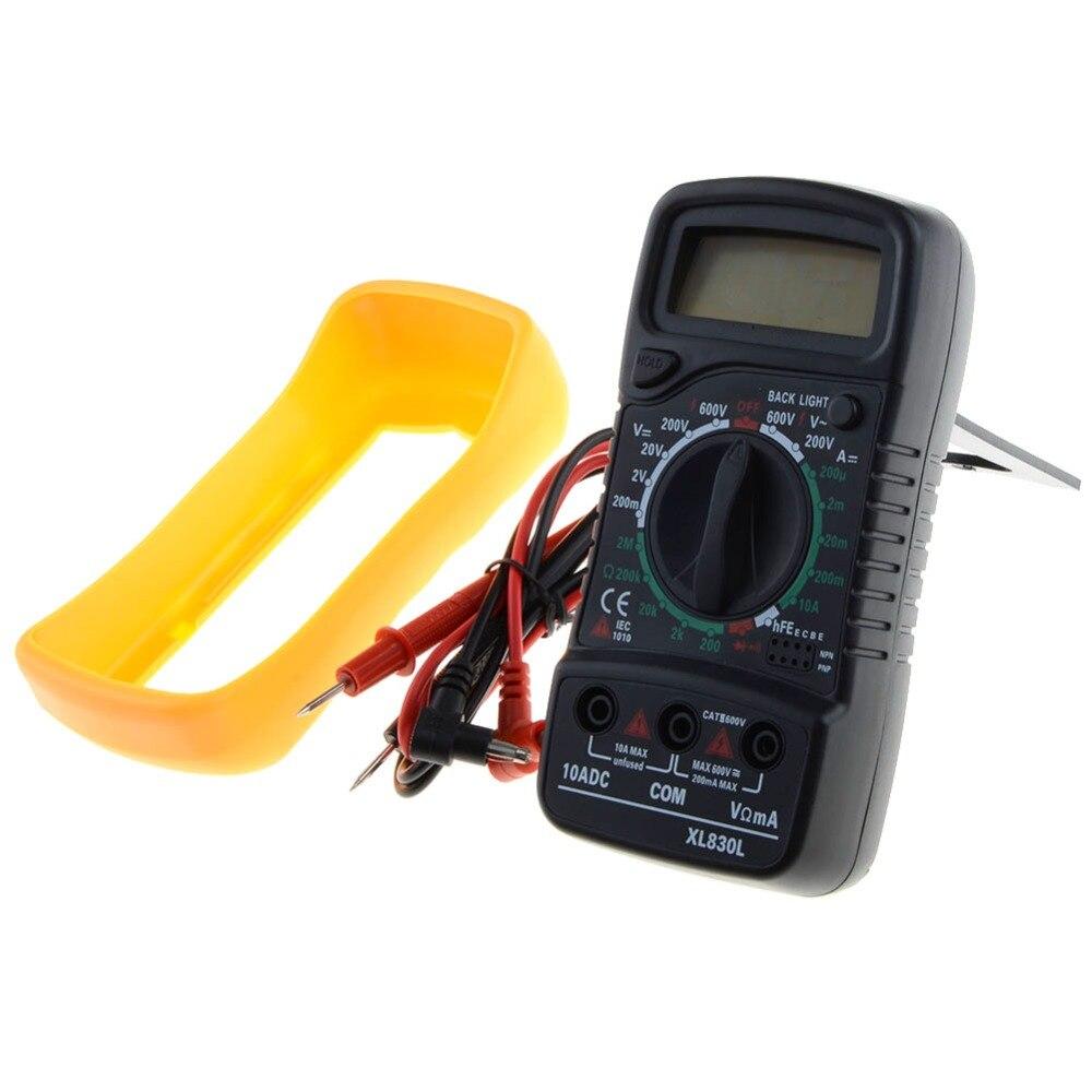 Portátil Backlight Multímetro Digital AC/DC Amperímetro Voltímetro Ohm Tester Medidor XL830L Handheld LCD Multimetro