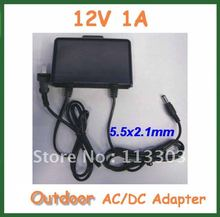 5pcs Outdoor Switching 12V 1A Charger Power Supply Adapter For CCTV Camera Monitor DC 5.5*2.1mm / 5.5x2.1mm