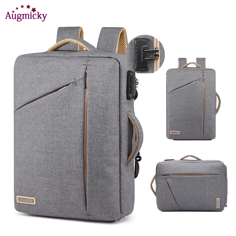 2019 Business Laptop Backpack Fit 17 inch Laptop Multi-layer Space Travel Male Bag Anti-thief Travel Bag Office Men Notebook Bag