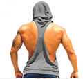 Men's Novelty Tight-fitting Active Cotton Fitness Hooded Tank Tops For Men New Fashion Sleeveless Beauty Bodybuilding Vests XXL