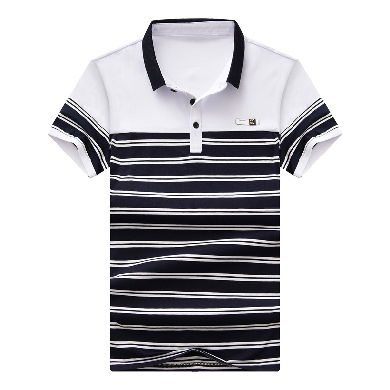 Badge Striped Men's   Polo   Shirt Eden Park Brand Cotton Golf Shirts Slim Stitching Short Sleeve   Polos   Size M-4XL;YA256