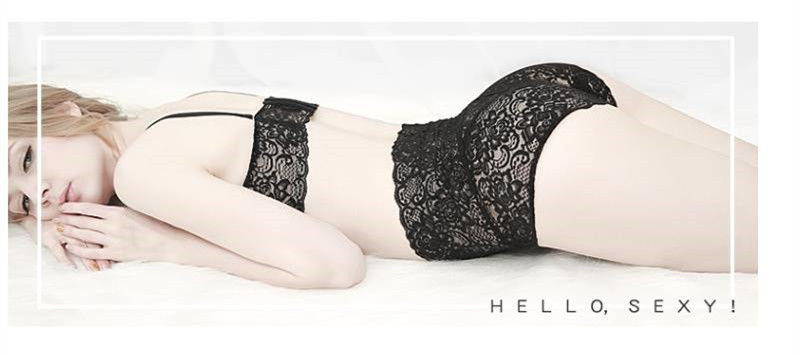 Women Panties Sexy Lace Underwear Mesh Floral Underpants Plus Size