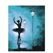 Frameless Oil Painting By Number Hand Painted Paint Coloring Numbers Canvas Picture Home Decor Ballet Dancer