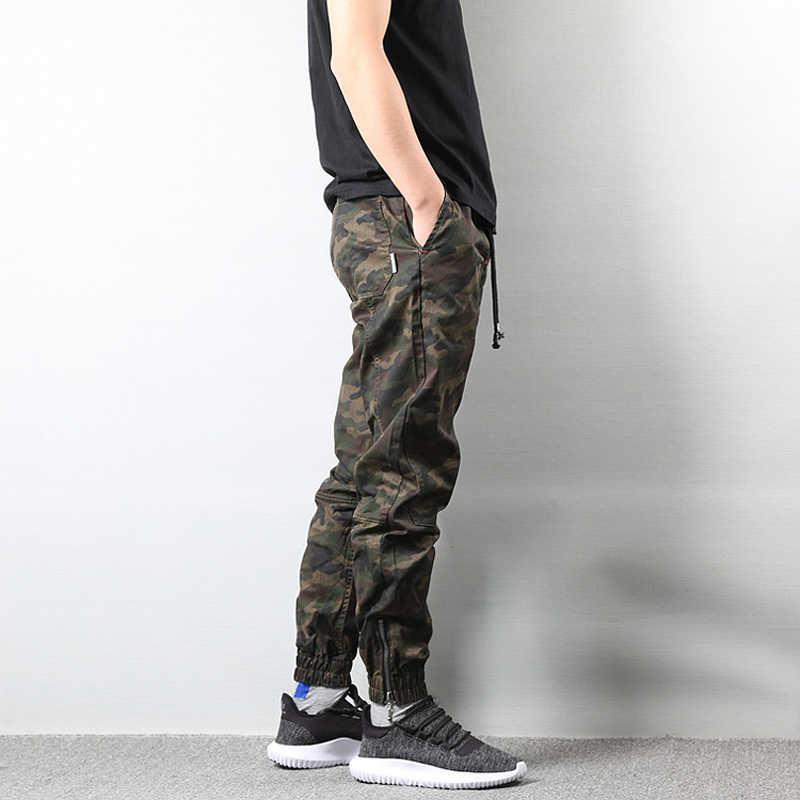 Pantalon Cargo Camouflage Style Militaire pour Hommes enti/èrement /élastique Taille Hip hop surv/êtement Militaire Pantalon de Jogging Pantalon