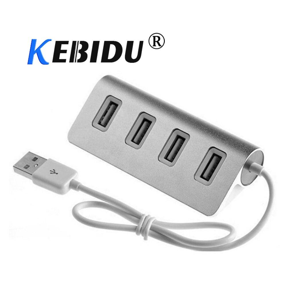 4-Port USB 3.0 Multi HUB Splitter Aluminum Adapter High Speed For PC Mac LOT H