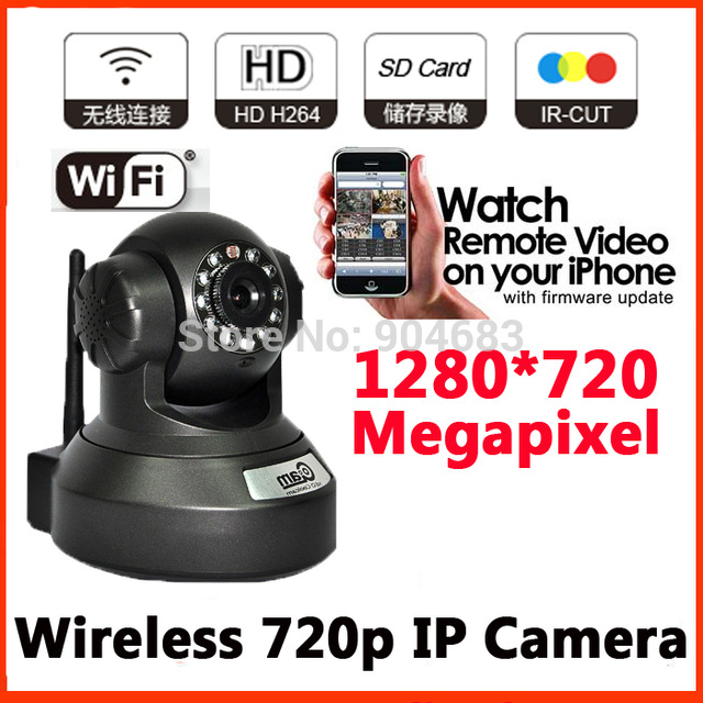 ФОТО 720P 1MP Megapixel Pan Tilt Rotate view Indoor Wifi Dome IP Camera Wireless support SD/TF H.264 IR Night Vision P2P