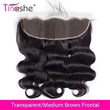 Tinashe, cabello brasileño, cuerpo, Onda de encaje Frontal HD suizo, cabello humano Frontal, cabello Remy, cierre Frontal de malla transparente