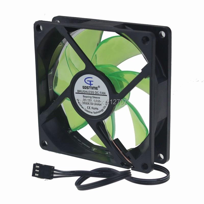 92mm led fan green 14