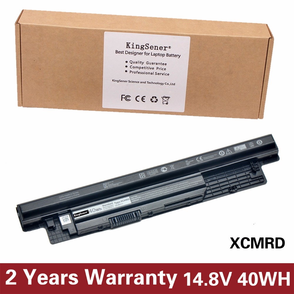 KingSener Korea Cell XCMRD Laptop Battery for DELL Inspiron 3421 3721 5421 5521 5721 3521 XCMRD MR90Y 40WH Free 2 years Warranty 11 1v 97wh korea cell new m5y0x laptop battery for dell latitude e6420 e6520 e5420 e5520 e6430 71r31 nhxvw t54fj 9cell