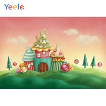 Yeele Birthday Backdrop Fairy-tale World Candy Castle Photography Backdrop Personalized Photographic Background For Photo Studio free shipping fairy tale digital kids studio photography background backdrop 5x10ft baby children fabric backdrop a 1187