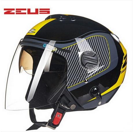 2018 ZEUS Double Lenses Motocross Helmets Motorcycle Goggles Cool Helmet Street Country Open Face Motorbike Helmets Bike Scooter