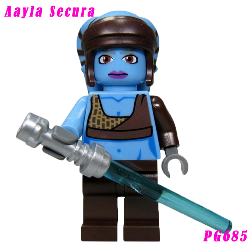 The Clone Wars Aayla Secura With Blue-Bladed Lightsaber Star Wars 8098 Clone Turbo Tank Building Block Toys For Kids Pg685
