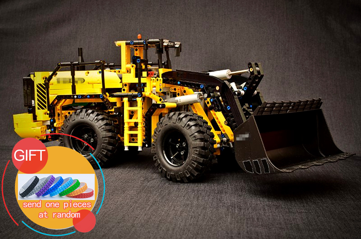 20006 1636pcs technic series Volvo L350F wheel loader Model Building blocks Compatible 42030 boy gift car toys lepin lepin 20006 technic series volvo l350f wheel loader model building kit blocks bricks compatible with toy 42030 educational gifts
