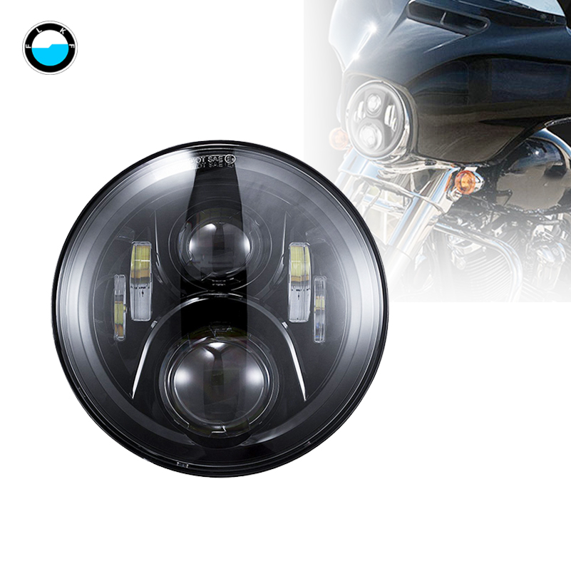 7 inch Motorcycle LED headlight High/Low Beam headlamp for Harley Davidson Tour Glide Softail Road King Street Glide.