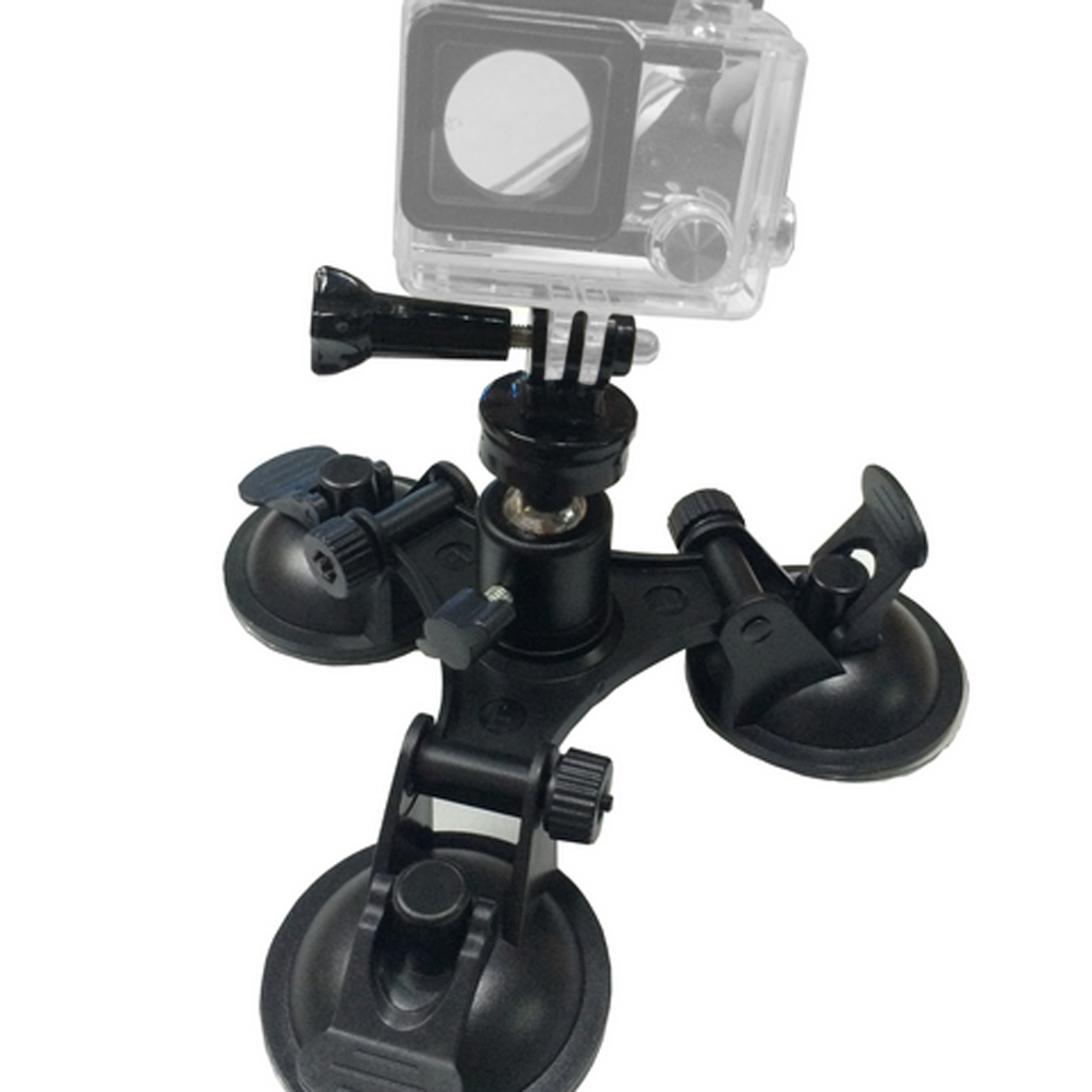 Low Angle Removable Suction Cup Tripod Mount for Gopro Hero 5 3 3+ 4 Session Xiami Yi 4K SJCAM SJ4000 with Ball Head Suckers