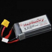 1 pcs D'origine Infinity 4S 14.8 V 1500 mAh 70C 50C Graphène LiPo Batterie XT60 Soutien 15C Charge Renforcement Pour Racer Drone