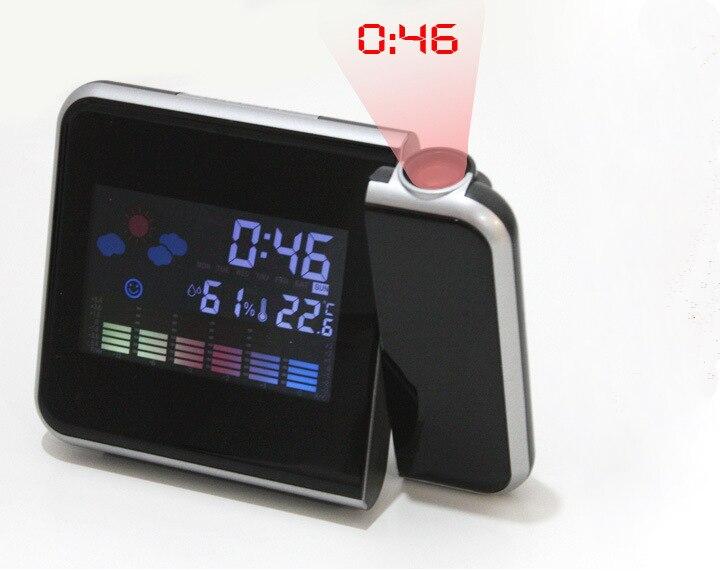 The Best 2018 New Projector Snooze Alarm Clock Led Digital Desktop Clock Table Clock Reloj Despertador Watch Colorful Backlight To Assure Years Of Trouble-Free Service Alarm Clocks Clocks