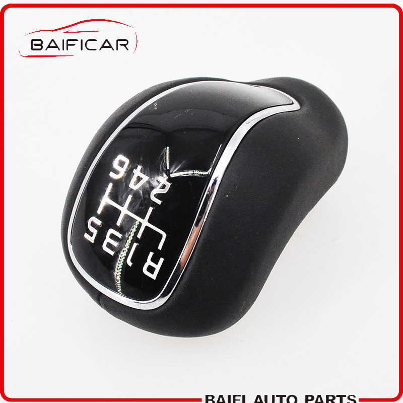 Baificar Brand New Black Leather Manual Stick Gear Shift Knob Lever Shifter 6 Speed For Kia Forte Cerato K3 2012 2016-in Gear Shift Knob from Automobiles & Motorcycles