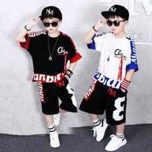 Vêtements de sport garçons, ensemble dété 2019, deux pièces, tenue couture, pour enfants de 4 6 8 10 12 14 et 16 ans