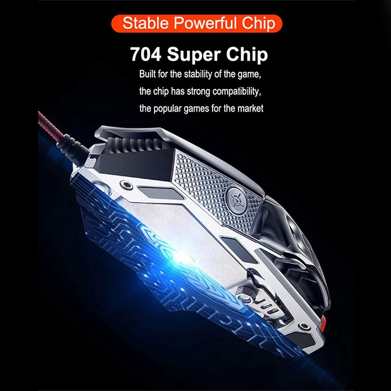 Image 4 - FELYBY Professional Wired Gaming Mouse 6 Button 2400 DPI LED Optical USB Computer Mouse Gamer Mice V9 Game Mouse For PC-in Mice from Computer & Office