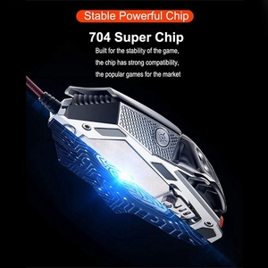 Image 4 - FELYBY Professional Wired Gaming Mouse 6 Button 2400 DPI LED Optical USB Computer Mouse Gamer Mice V9 Game Mouse For PC