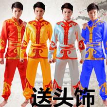 Smok łódź taniec Smok taniec lew Gongi sztuk walki kostium bębny wyciąg sedan taniec kostiumy mężczyźni modele yangko perkusja tanie tanio z zeongro Kostium tańca yangko Poliester Mężczyzn Chiński taniec ludowy