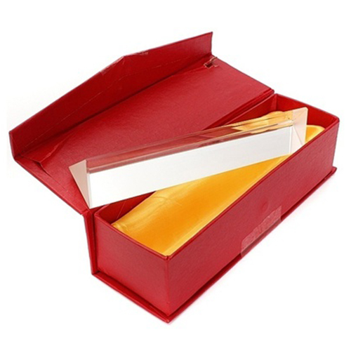 JFBL Hot 15cmx3cm Rainbow Optical Glass Triple Triangular Prism Physics Teaching Light Spectrum with Gift Box