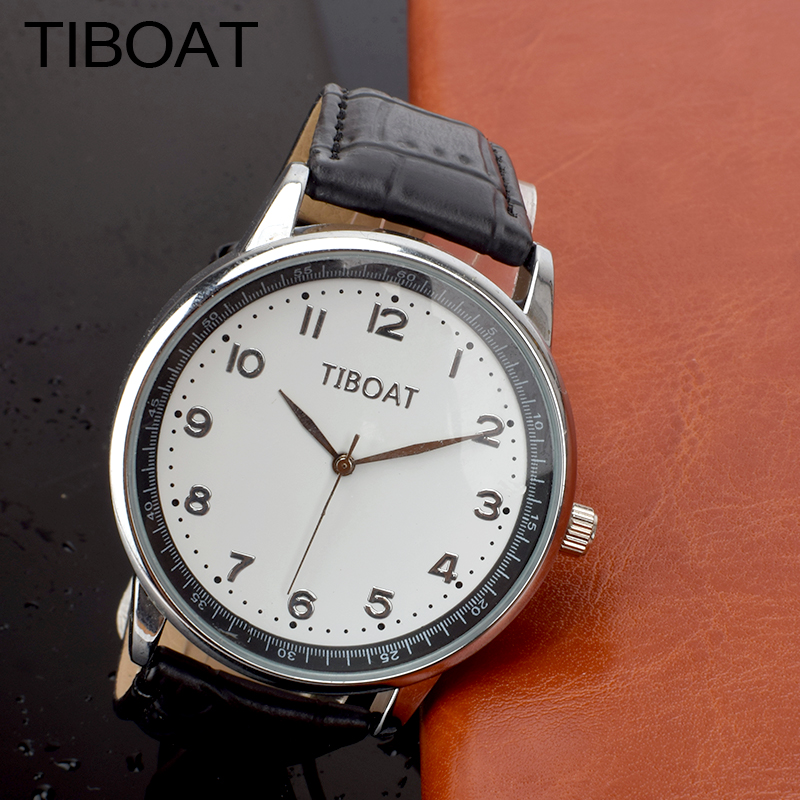 TIBOAT Fashion Womens Watches Big dial High Quality Leather Ladies Watch Quartz Wrist Watch clock women relogio feminino big size dial plate fashion men s quartz leather watch wrist strap watches 8 type optional top quality
