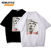 Men's short sleeve Japan casual t shirts men mask print 5xl hip hop clothes streetwear 2019 summer white black tshirts tee TS104