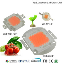 1 Watt 3 Watt 20 Watt 30 Watt 50 Watt 100 Watt 120 Watt Led wachsen licht chip vollspektrum 380-840nm 100 Watt led wachsen licht 50 watt DIY wachsen licht(China)