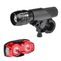 ITECHOR Bicycle Bike 3 Mode CREE Q5 LED Zoom Adjustable Focus Headlight Flashlight Torch Cycling Back