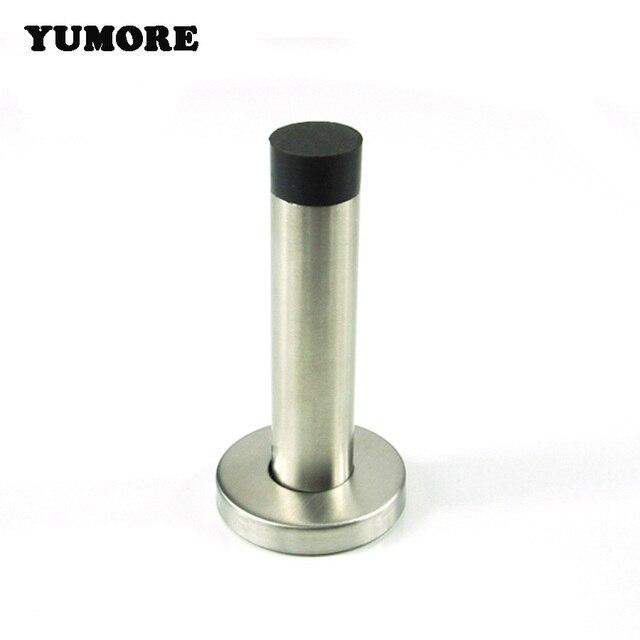 YUMORE 2PCS Stainless Steel Door Stoppers Decorative Heavy Duty Door Holder  Catch Rubber Door Stop Free