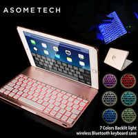 Funda protectora completa 7 colores para IPAD MINI 1 2 3 4 luz retroiluminada inalámbrica con teclado Bluetooth para iPad MINI Fundas