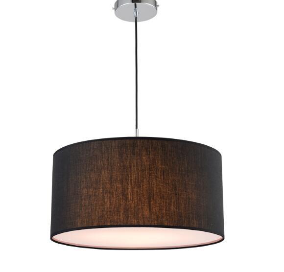 Lámpara colgante de tela redonda Simple moderna para comedor ...