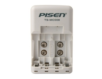 PISEN 9 V Volt Ni MH Rechargeable Battery Charger (White)