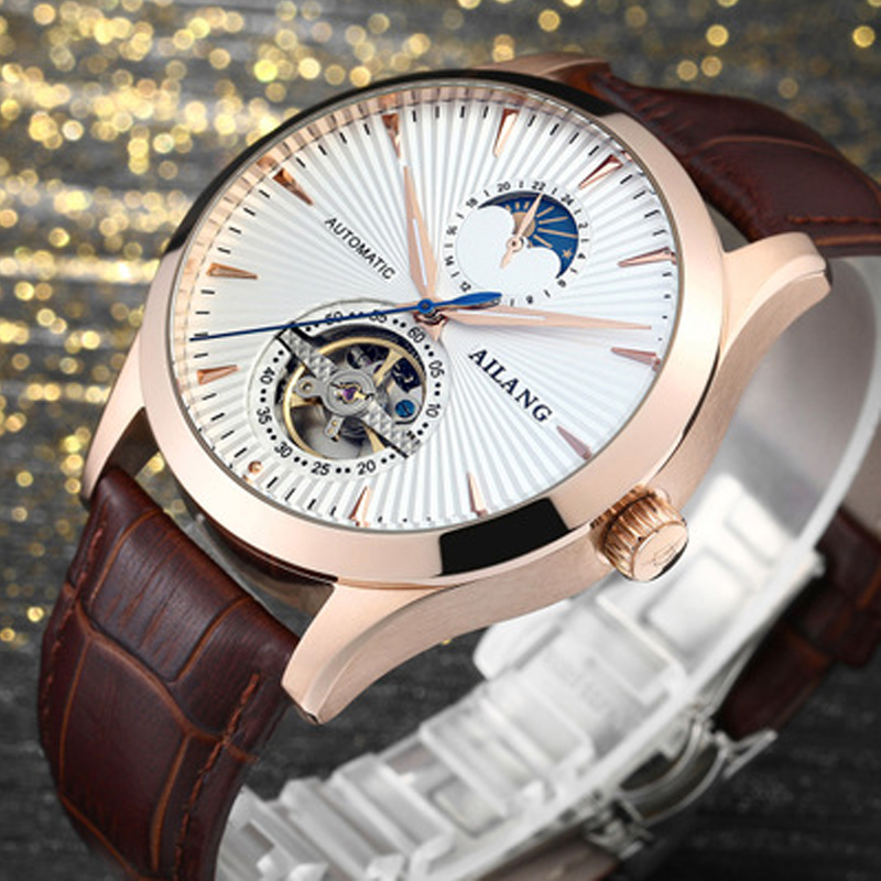 Marca de lujo ailang hombres Relojes automáticos Relojes Tourbillon - Relojes para hombres - foto 2