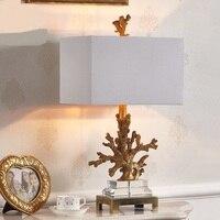 Einfache moderne kreative korallen kristall dekoration lampe schlafzimmer tischlampe Europäischen Amerikanischen studie zimmer modell lampen ya73115