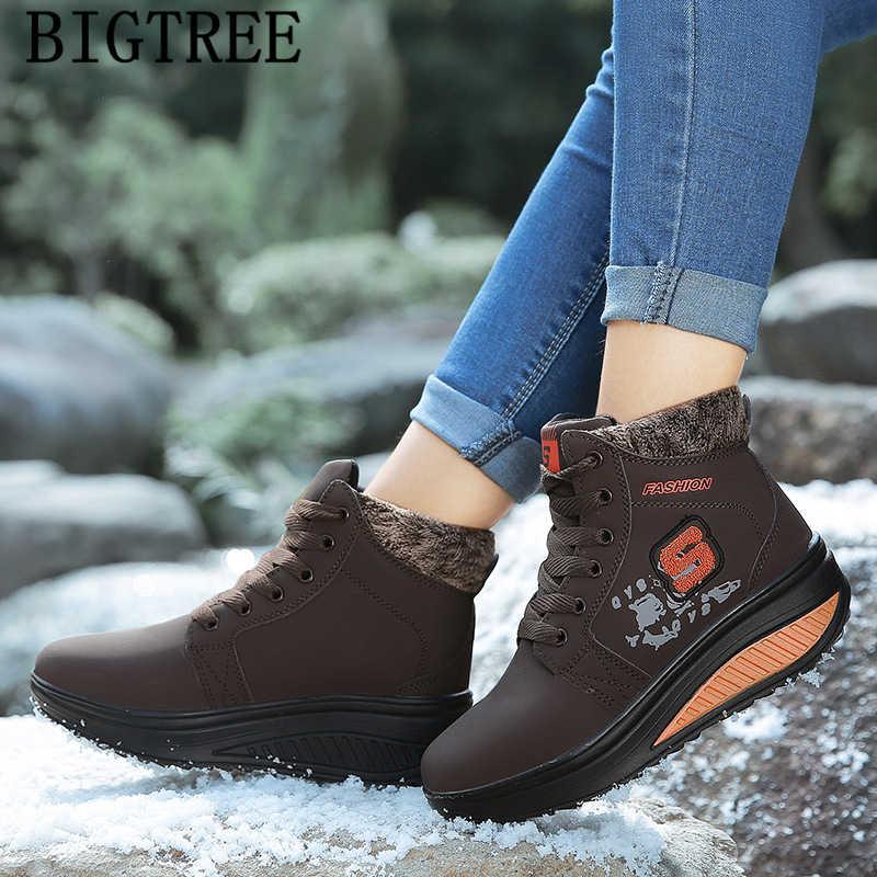 Yarım çizmeler kadınlar için tasarımcı marka ayakkabı kar botları kadın rahat ayakkabılar platformu çizmeler kadın kış ayakkabı botines mujer 2019