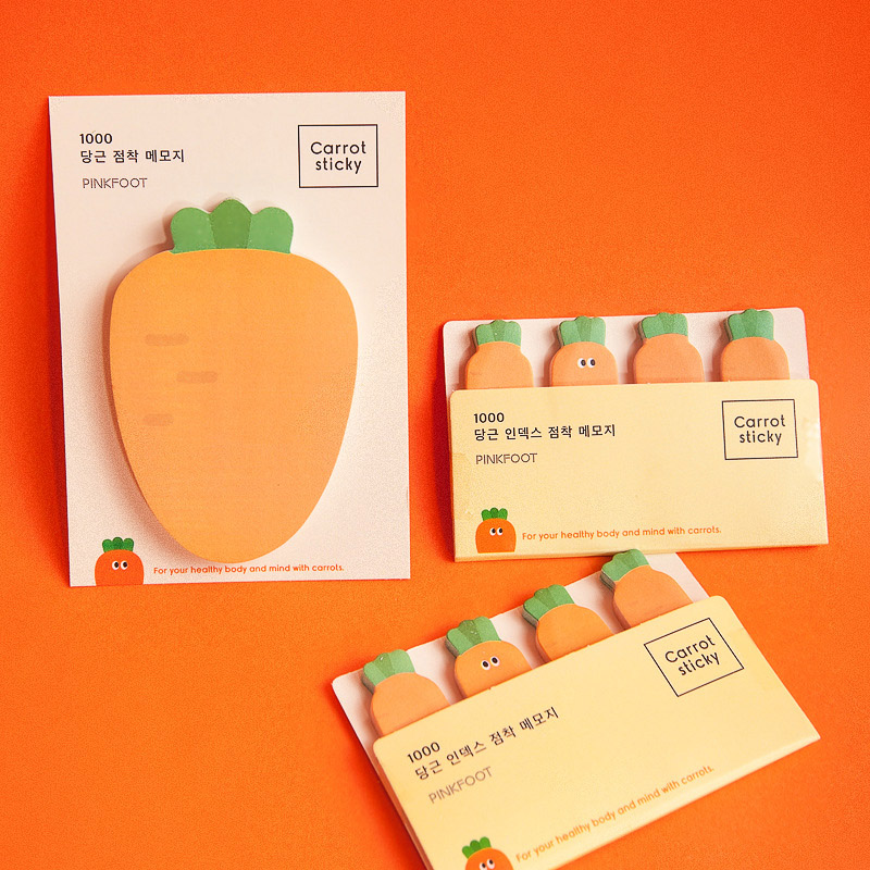 50/80Sheets Kawaii Carrot Memo Pads Cute Sticky Notes Pads For Kids Gifts Back To School Office Supplies Novelty Stationery