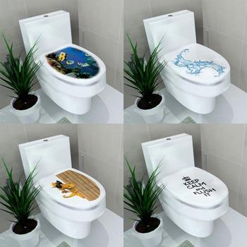 Vinyl Waterproof Antifouling Sticker Wall Sticker Ocean Bathroom Toilet Room Home Decor Decal Poster Background Wall Stickers