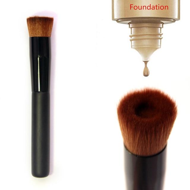 OutTop pinceles de maquillaje 1 piezas maquillaje cepillo plano perfeccionar el maquillaje de la cara cepillo de La Fundación pinceles de maquillaje 2019 JAN11