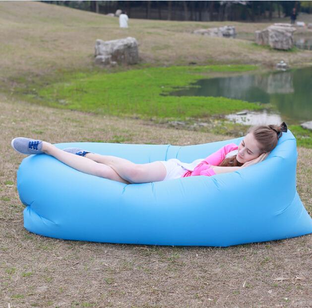 Nuevo estilo de aire portátil sofá inflable sofá cama niños playa saco de dormir puede ser doblado